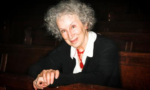 Canadian author Margaret Atwood at a Guardian Members event at the Emmanuel Centre in Westminster, September 2015.