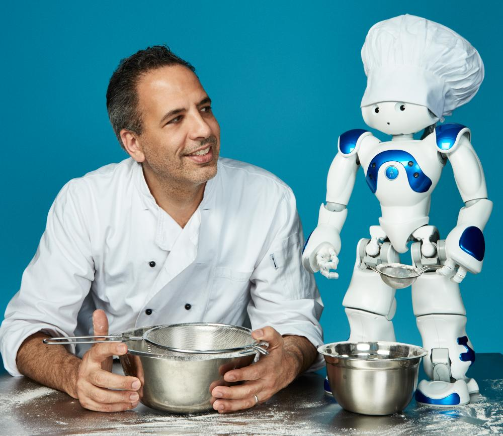 Yotam Ottolenghi with Nao robot