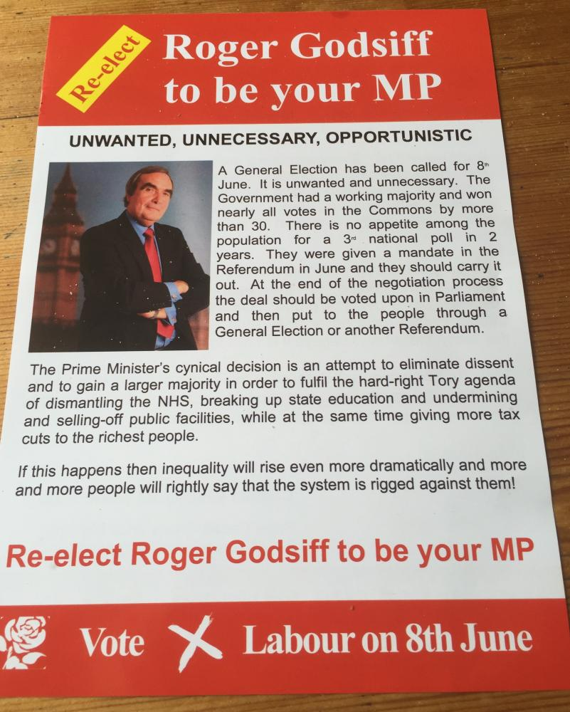 Roger Godsiff is unhappy an election is taking place.