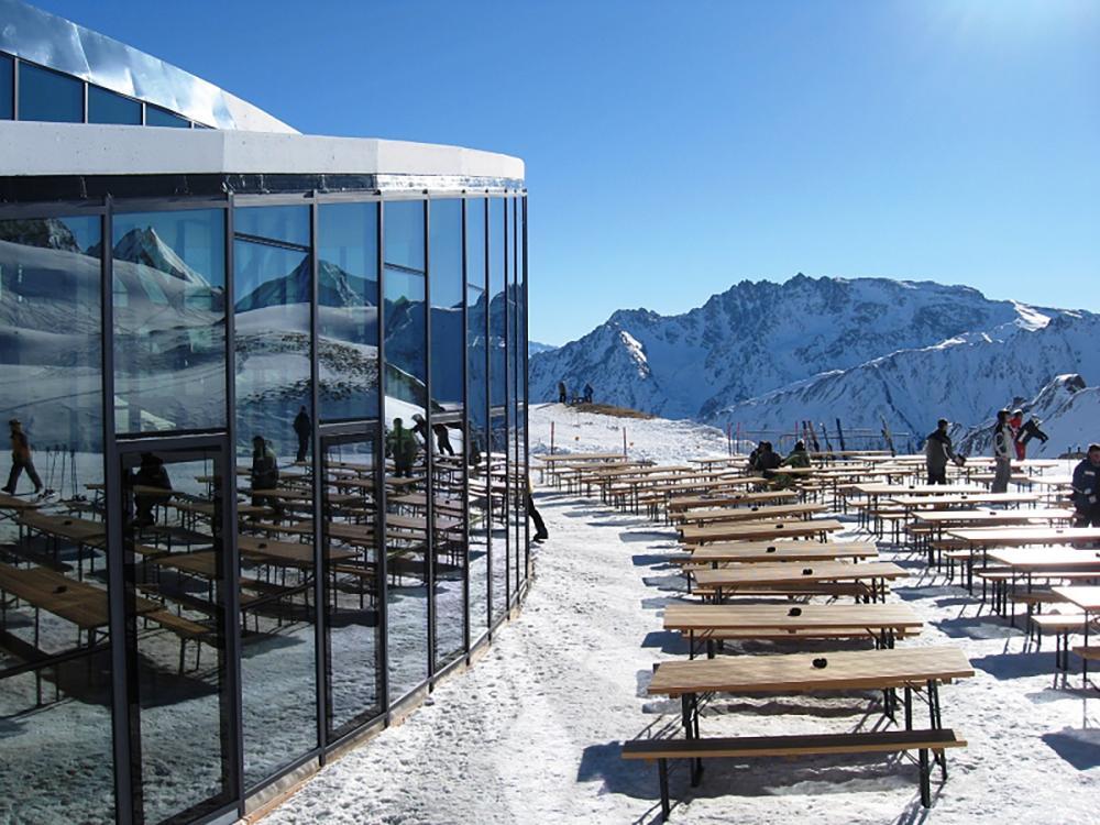 Salaas is one of Ischgl's highest restaurants at 2,456 metres