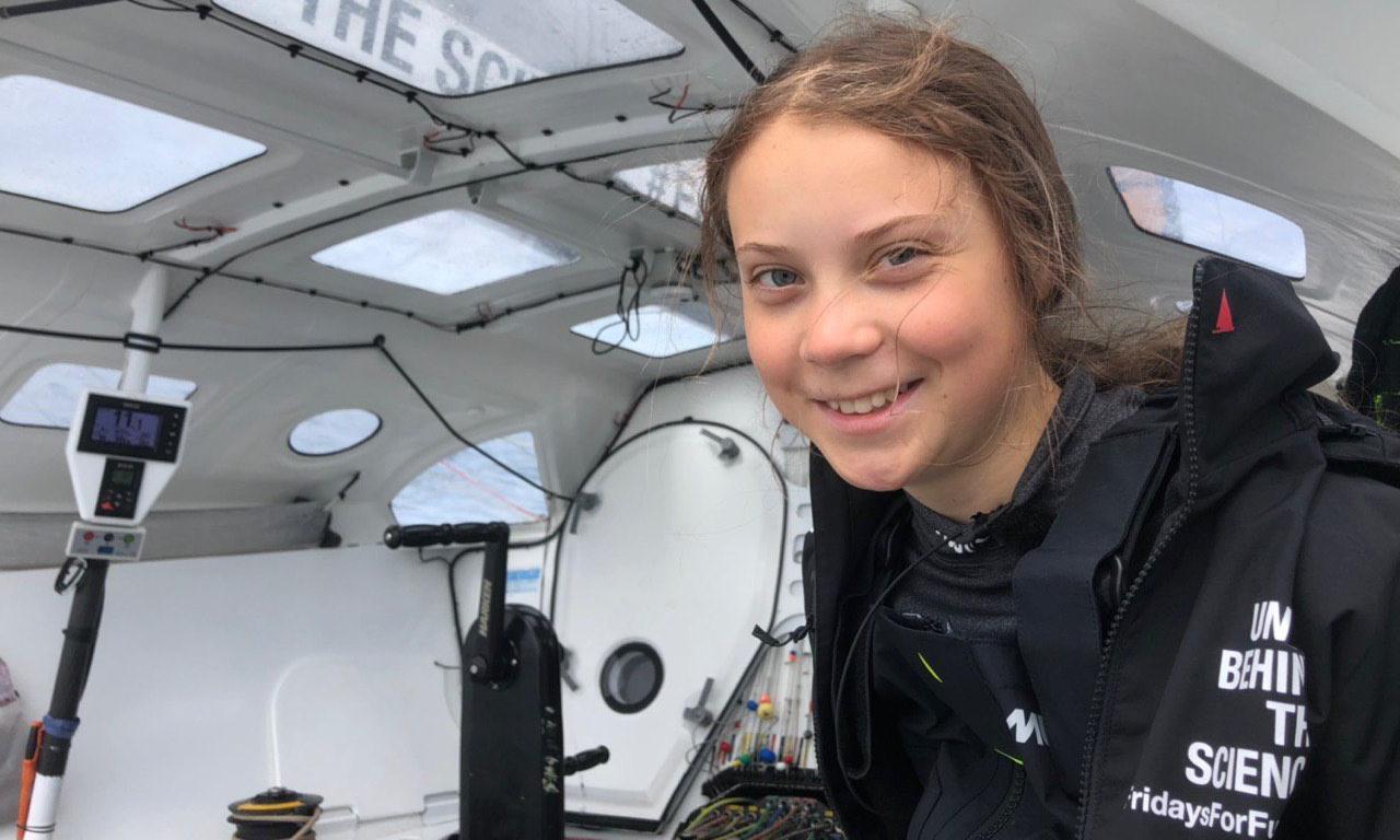 'No sea sickness so far': Greta Thunberg posts update four days into Atlantic crossing