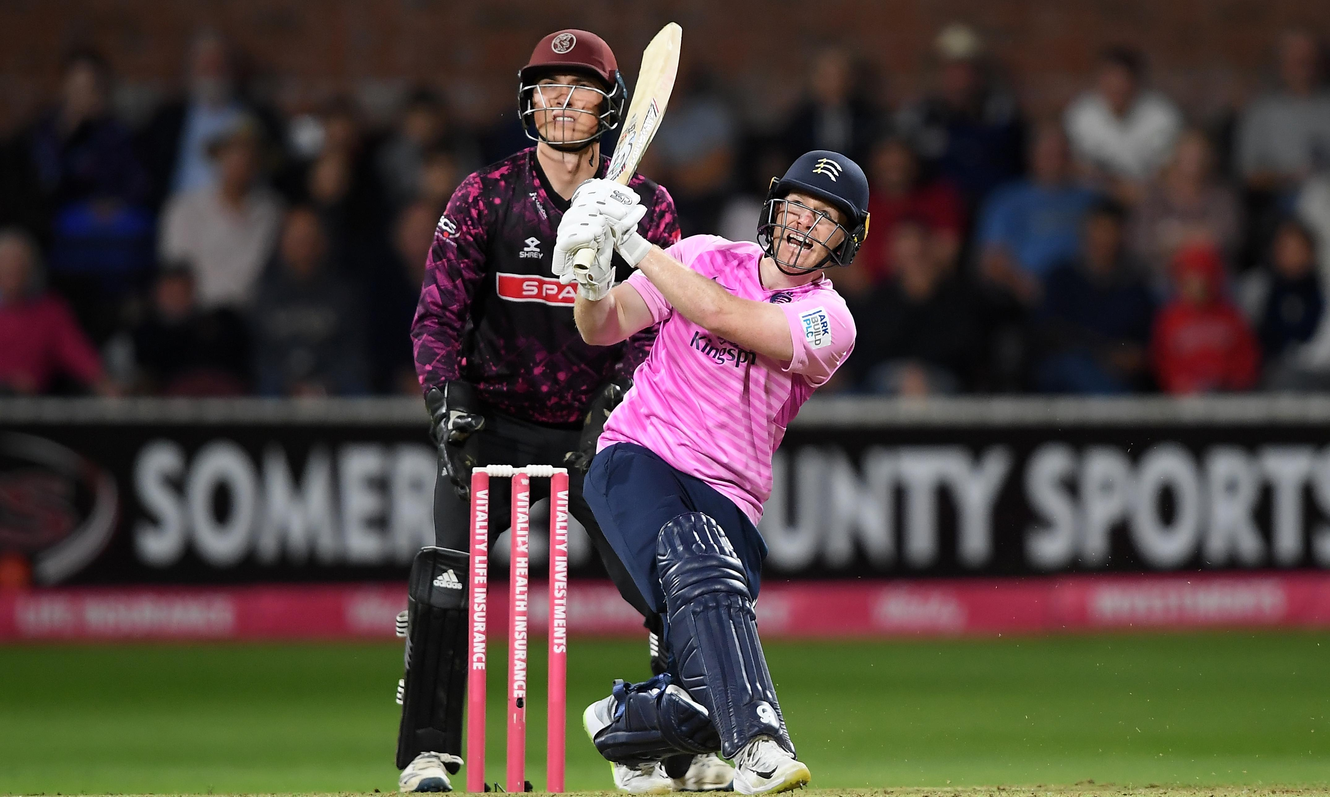 Eoin Morgan blasts Middlesex to domestic T20 world record run target