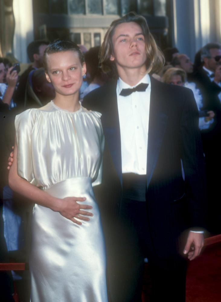 Martha Plimpton and River Phoenix at the Oscars in 1989