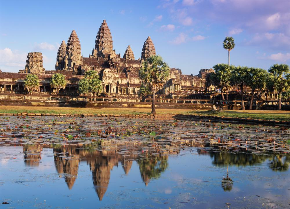 The magestic Angkor Wat temple in Siem Reap.