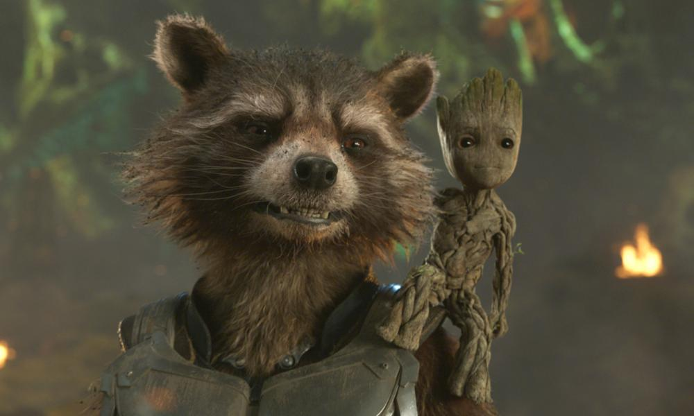 Rocket Raccoon and Groot in Guardians of the Galaxy Vol. 2.
