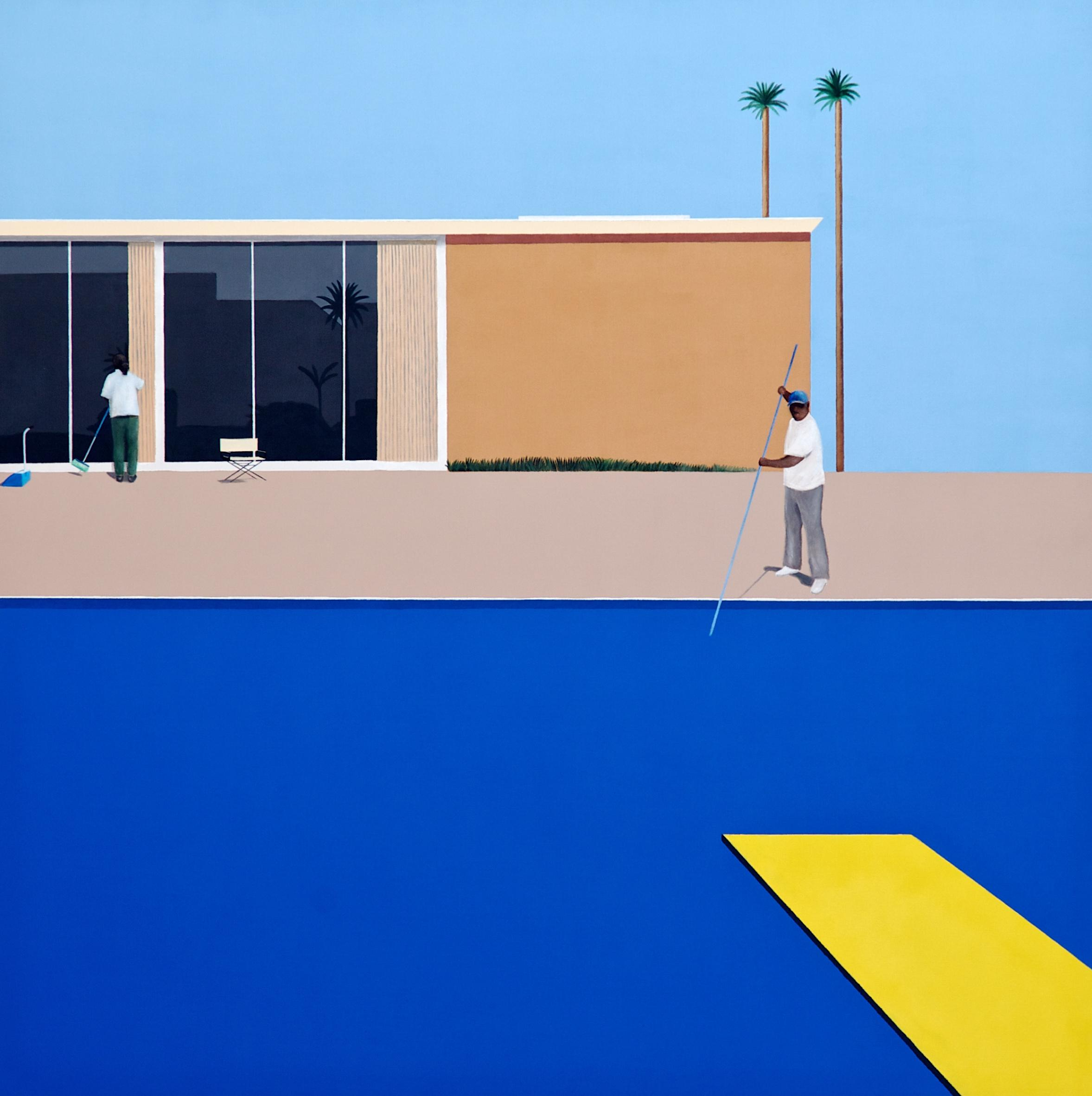 A deeper Splash: the artist painting the pool cleaners David Hockney forgot