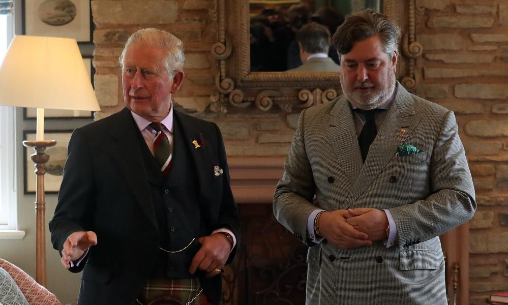 Prince Charles with Michael Fawcett on a visit to Scotland.