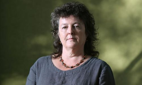 Carol Ann Duffy, Scottish poet and playwright, Poet Laureate, appears at a photocall prior to an event at Edinburgh International Book Festival, on August 9, 2014 in Edinburgh, Scotland. (Photo by Jeremy Sutton-Hibbert/Getty Images)