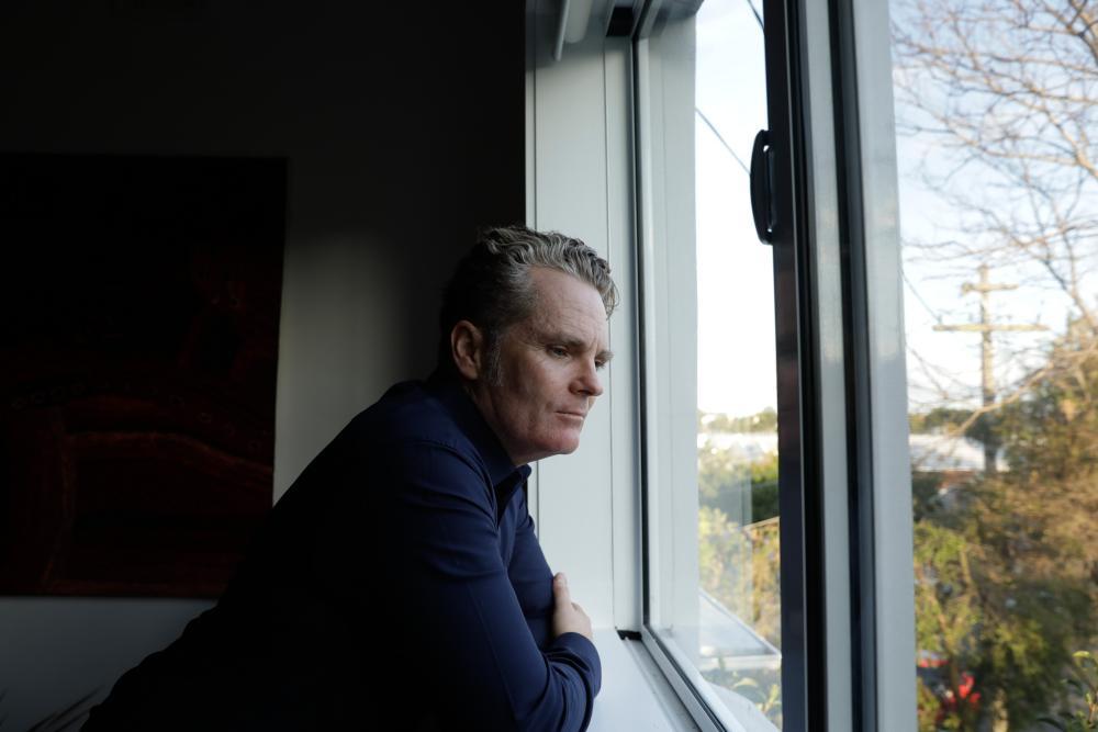 James Bradley in his home in Marrickville, Sydney