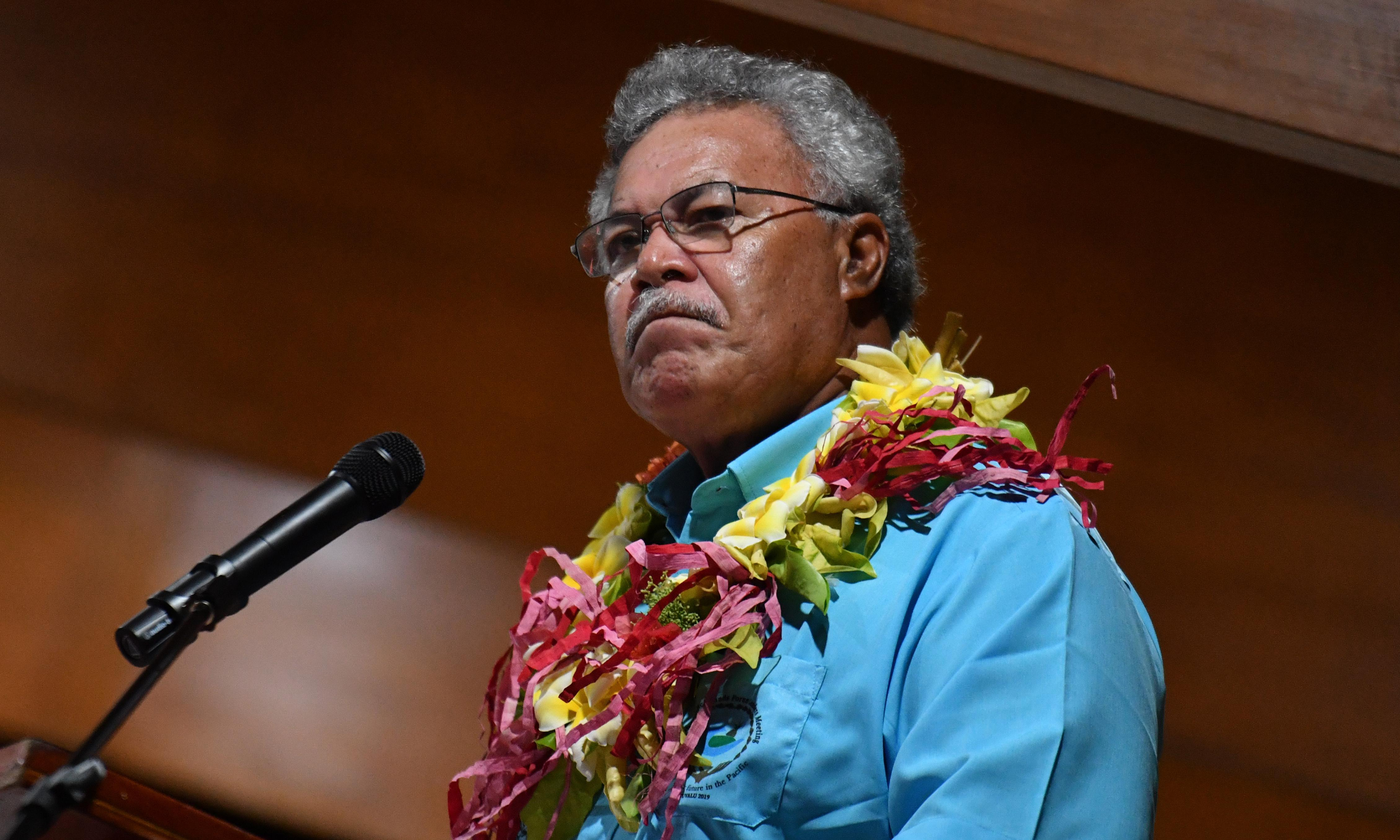 Former Tuvalu PM says he was 'stunned' by Scott Morrison's behaviour at Pacific Islands Forum