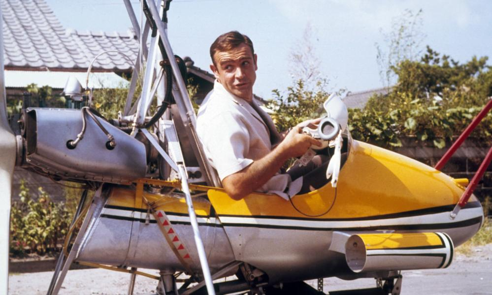Blades of glory … Sean Connery's autogyro in You Only Live Twice.