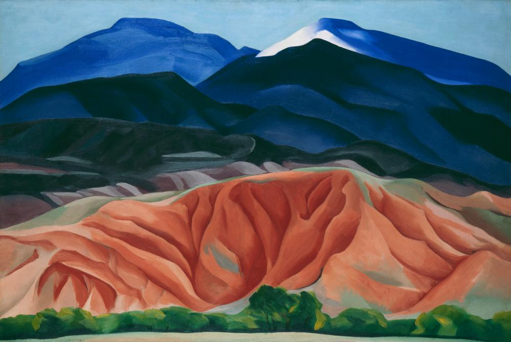 Georgia O'Keeffe's Black Mesa Landscape, New Mexico / Out Back of Marie's II (1930).