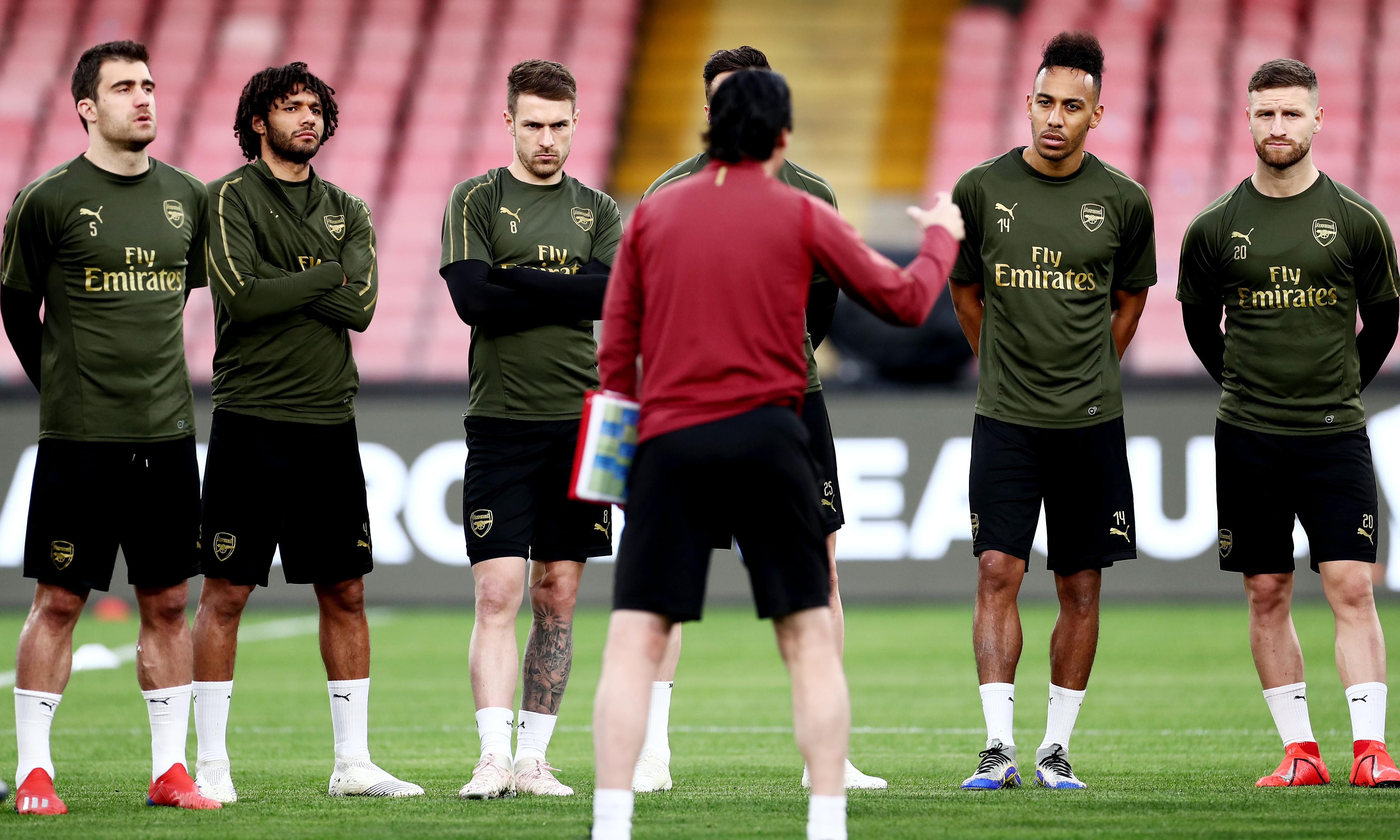 Unai Emery urges Arsenal to seize the moment at daunting Napoli