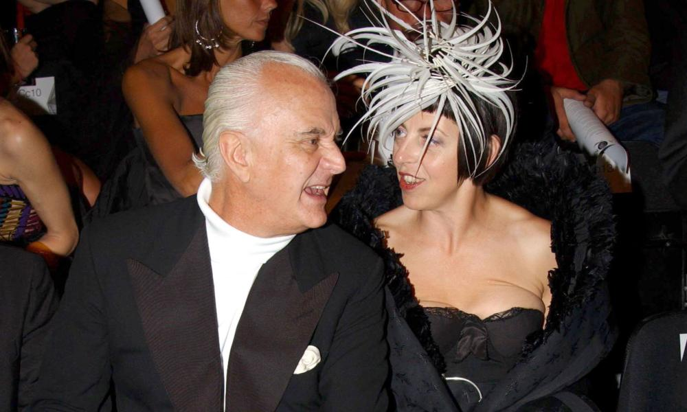 Hats off: Manolo Blahnik with Isabella Blow in 2004.