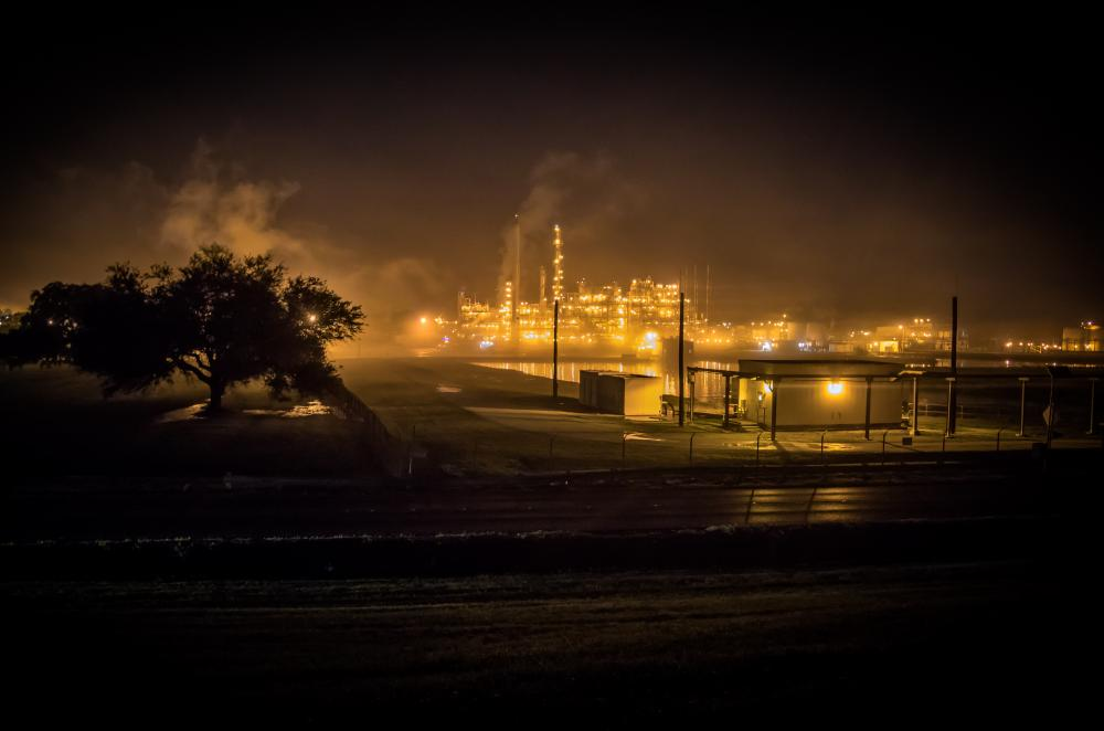 The Dupont/Denka plant. St John the Baptist parish has the highest risk of cancer from air pollution in the US because of chloroprene, which the plant has been emitting for 48 years.