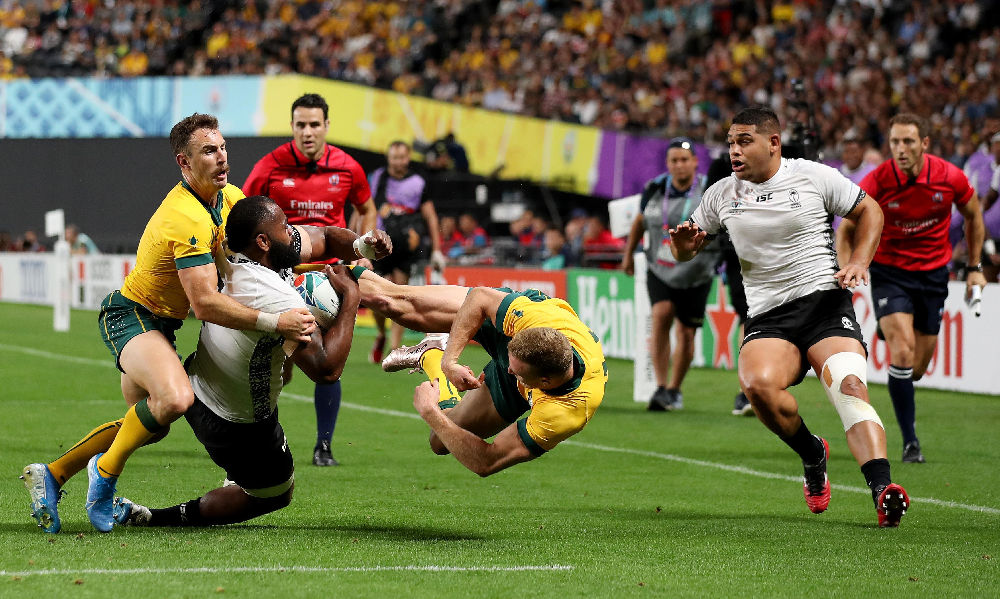 Australia wing Reece Hodge cited for tackle on Fiji's Peceli Yato