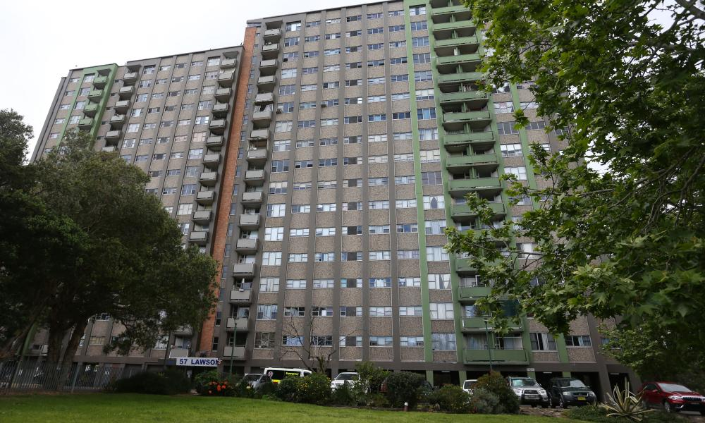 The social housing towers in Redfern are home to about 630 people.