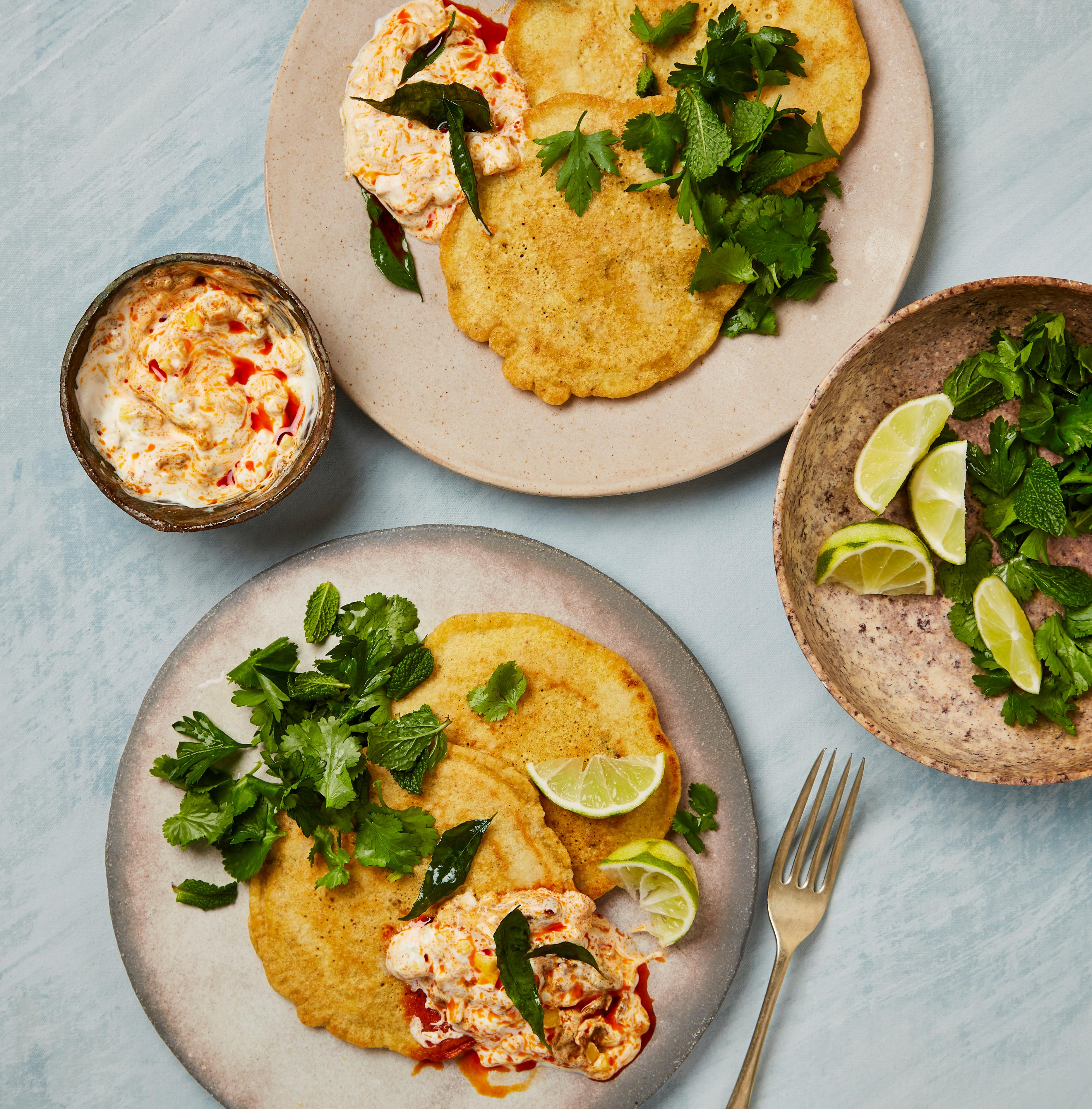 Yotam Ottolenghi's gluten-free recipes: chickpea pancakes, fish fritters, berbere ratatouille
