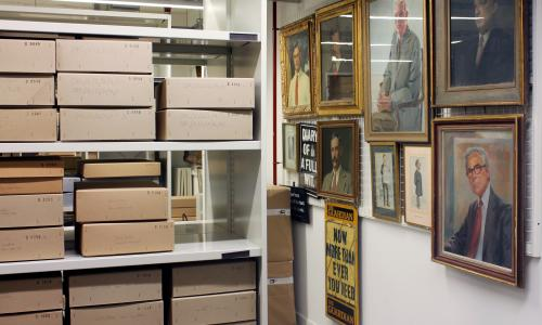 GNM Archive stores at Kings Place, London