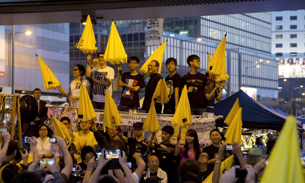 Umbrellas at Occupy Central.