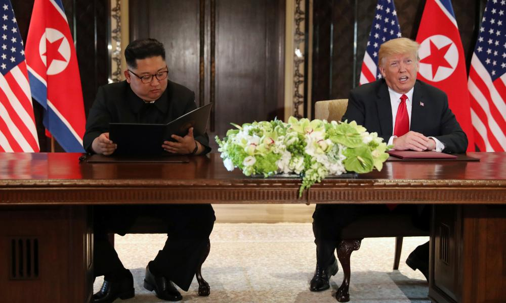 """Trump and Kim sign a """"comprehensive"""" agreement at the conclusion of their summit in Singapore today"""