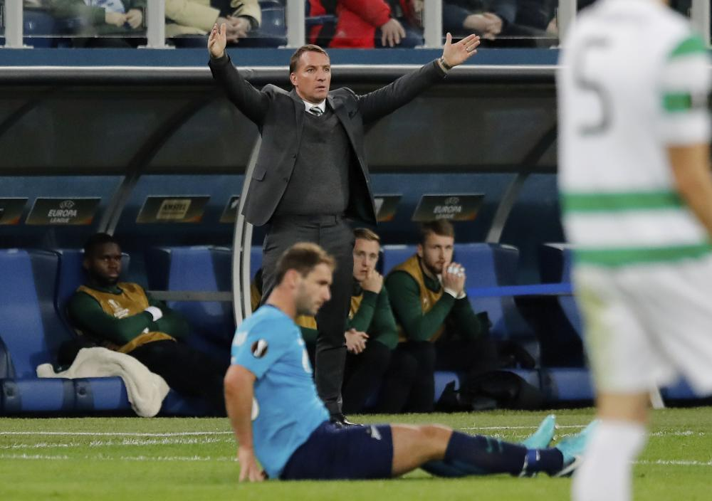 Frustration for Brendan Rodgers as his team underperform.