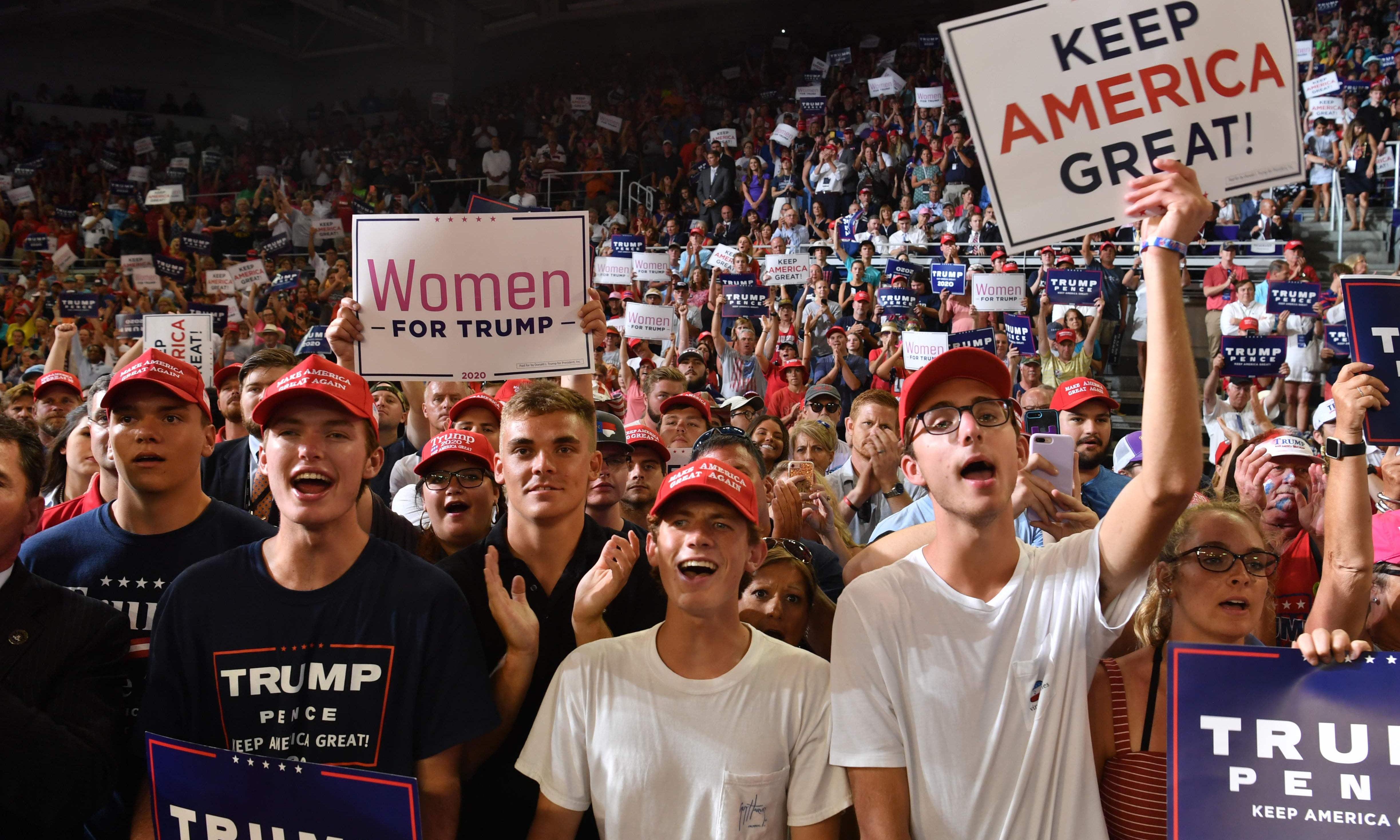 Republicans mostly silent after Trump rally racist chants aimed at Ilhan Omar