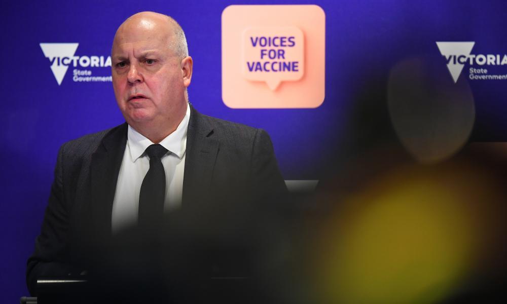 Victorian treasurer Tim Pallas speaks to the media in Melbourne, Friday, 8 October 2021.