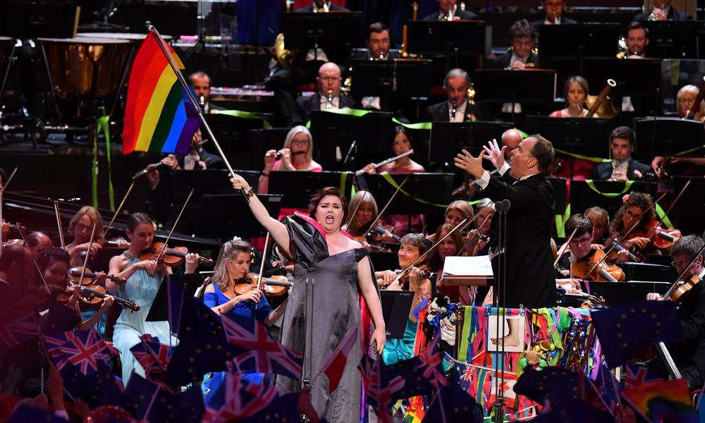 The American mezzo-soprano Jamie Barton flying the flag for the LGBTQ community at the 2019 Proms