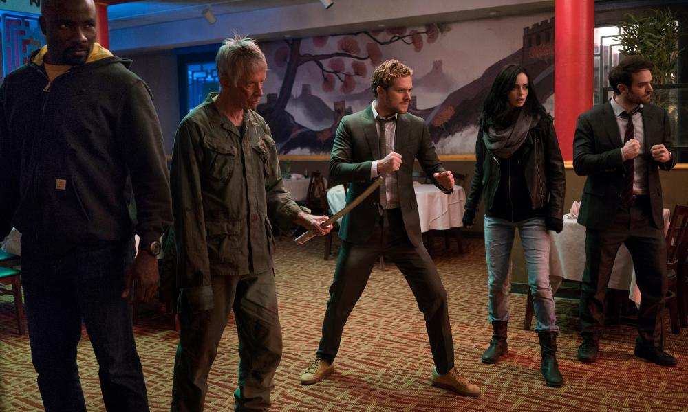 A scene from the first season of The Defenders