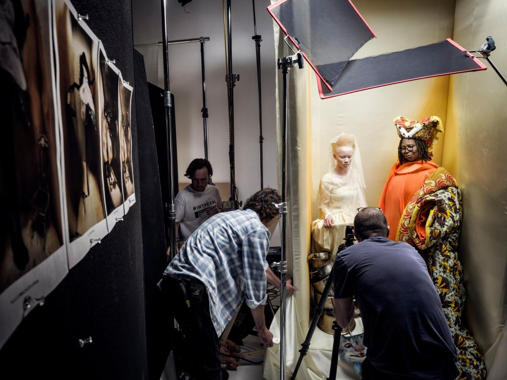 Thando Hopa and Whoopi Goldberg.