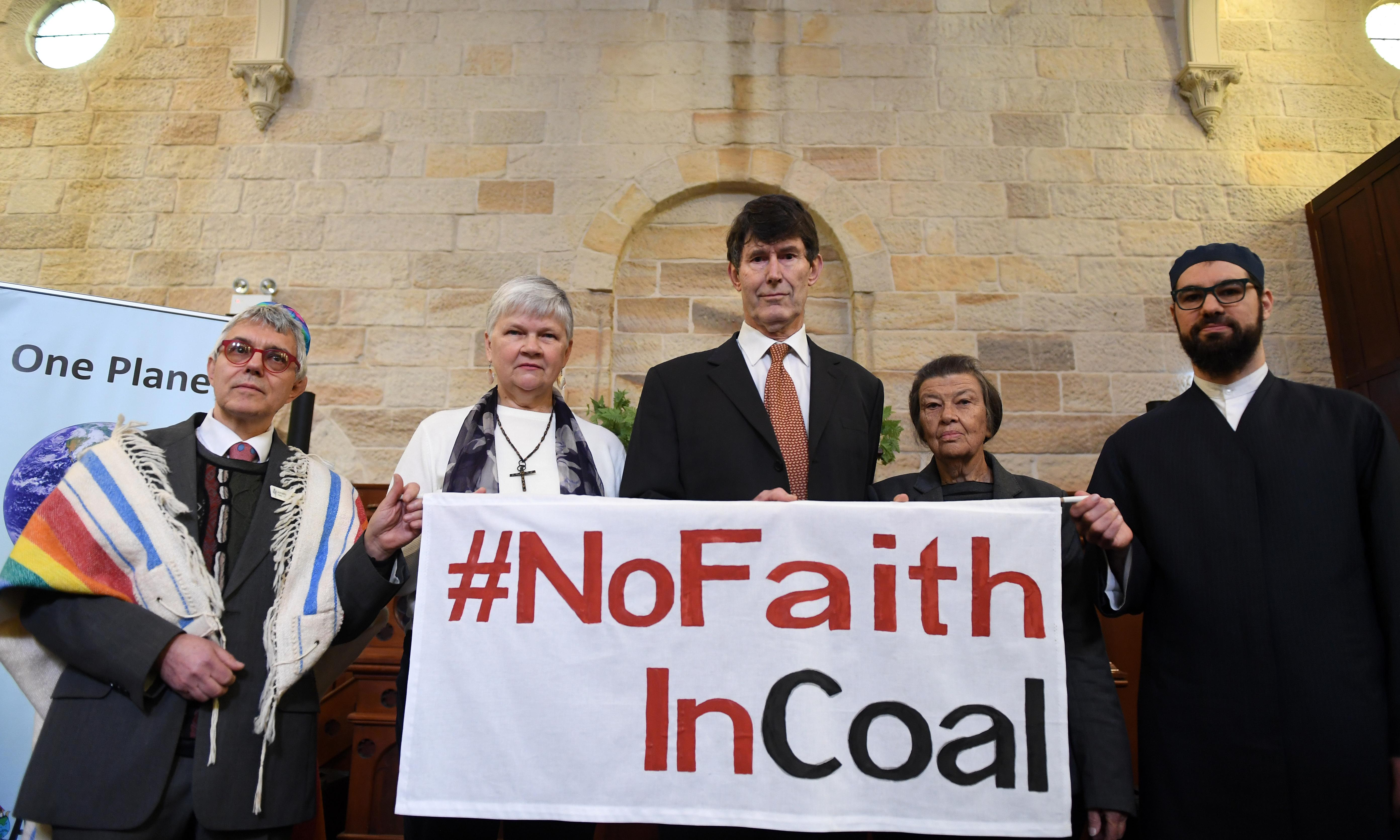 'No faith in coal': religious leaders urge Scott Morrison to take climate action