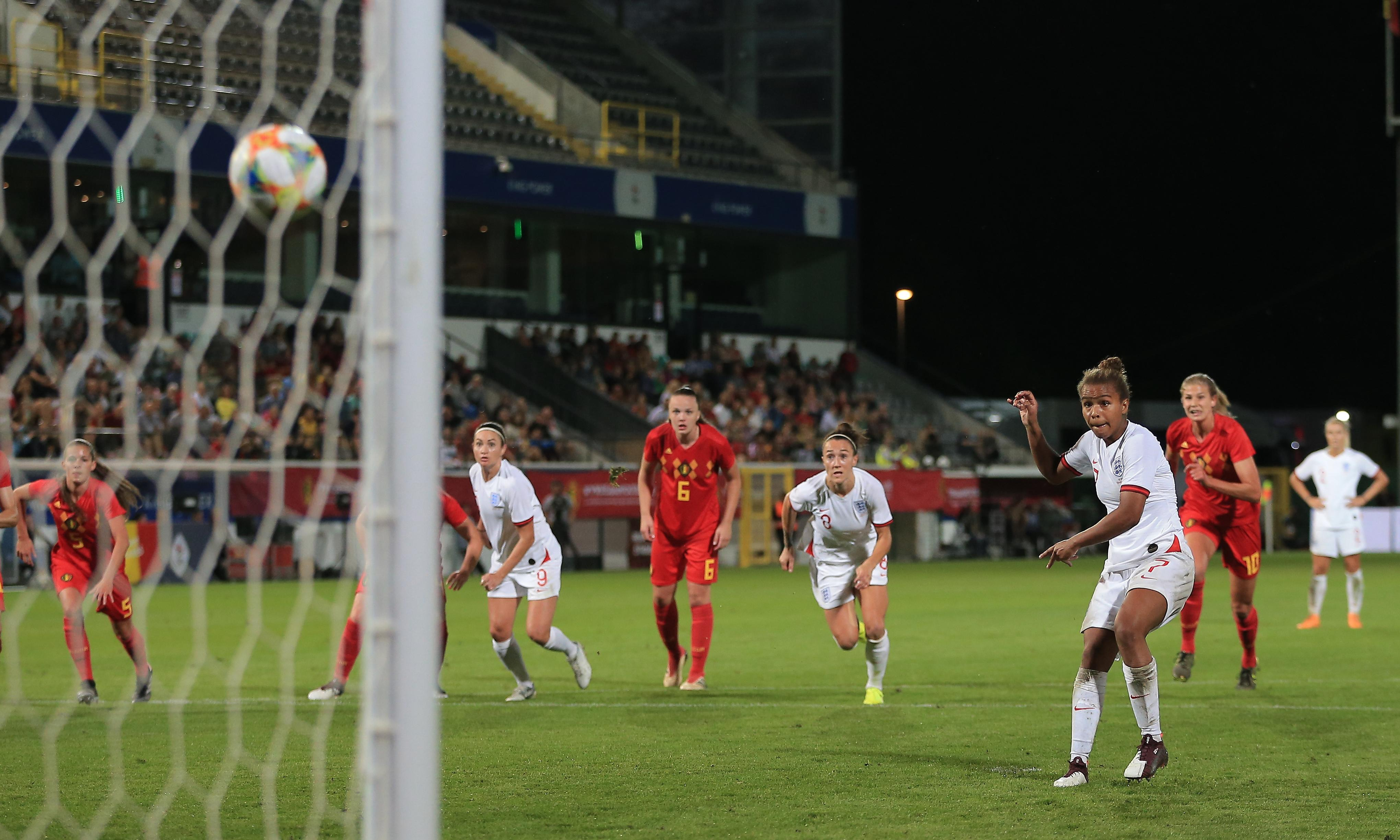 Nikita Parris rescues draw after England throw away two-goal lead over Belgium