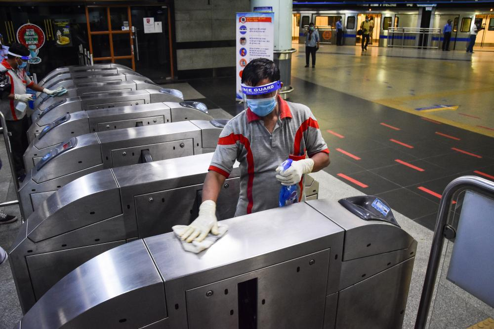 Delhi Metro network in New Delhi, India prepares to resume services partially after long lockdown of more than five months due to the pandemic. Delhi Metro Rail Corporation (DMRC) announced that it will resume its operation services on the Yellow Line from 7 September.