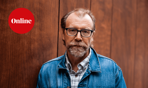New York, NY - OCTOBER 2: Author George Saunders stands for a photograph in New York City on October 2, 2018.