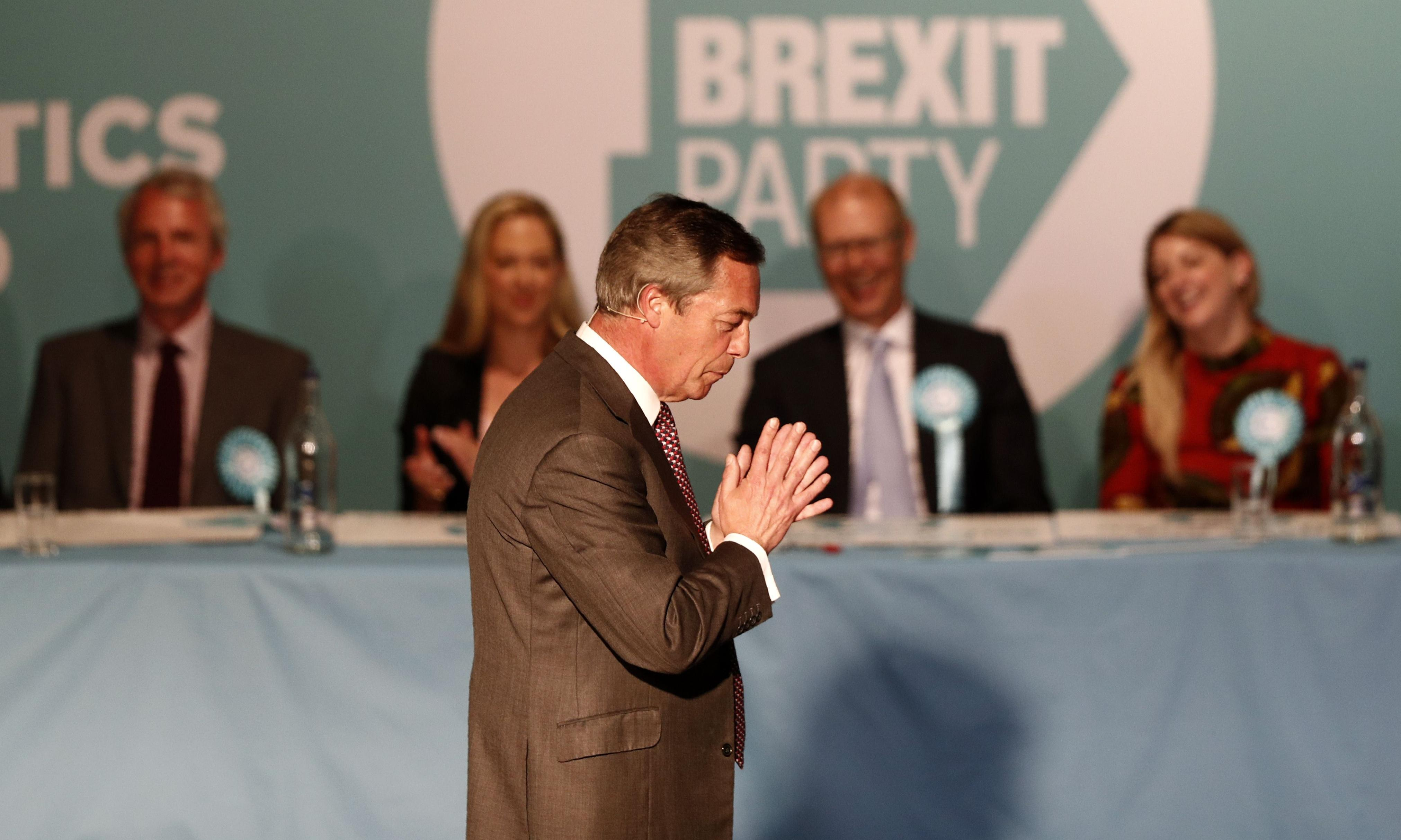 Brexit party's funding must be investigated, says Gordon Brown