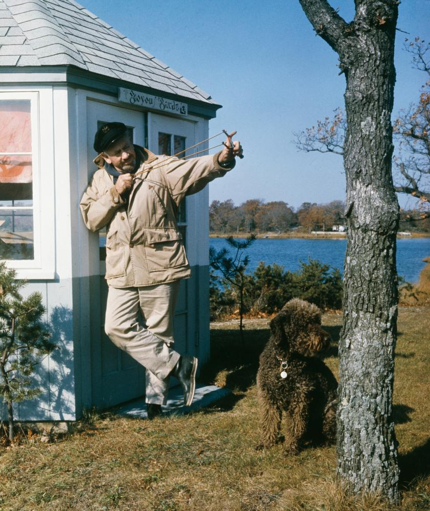 John Steinbeck at Sag Harbor, 1962 … presumably after he'd finished his daily schedule.