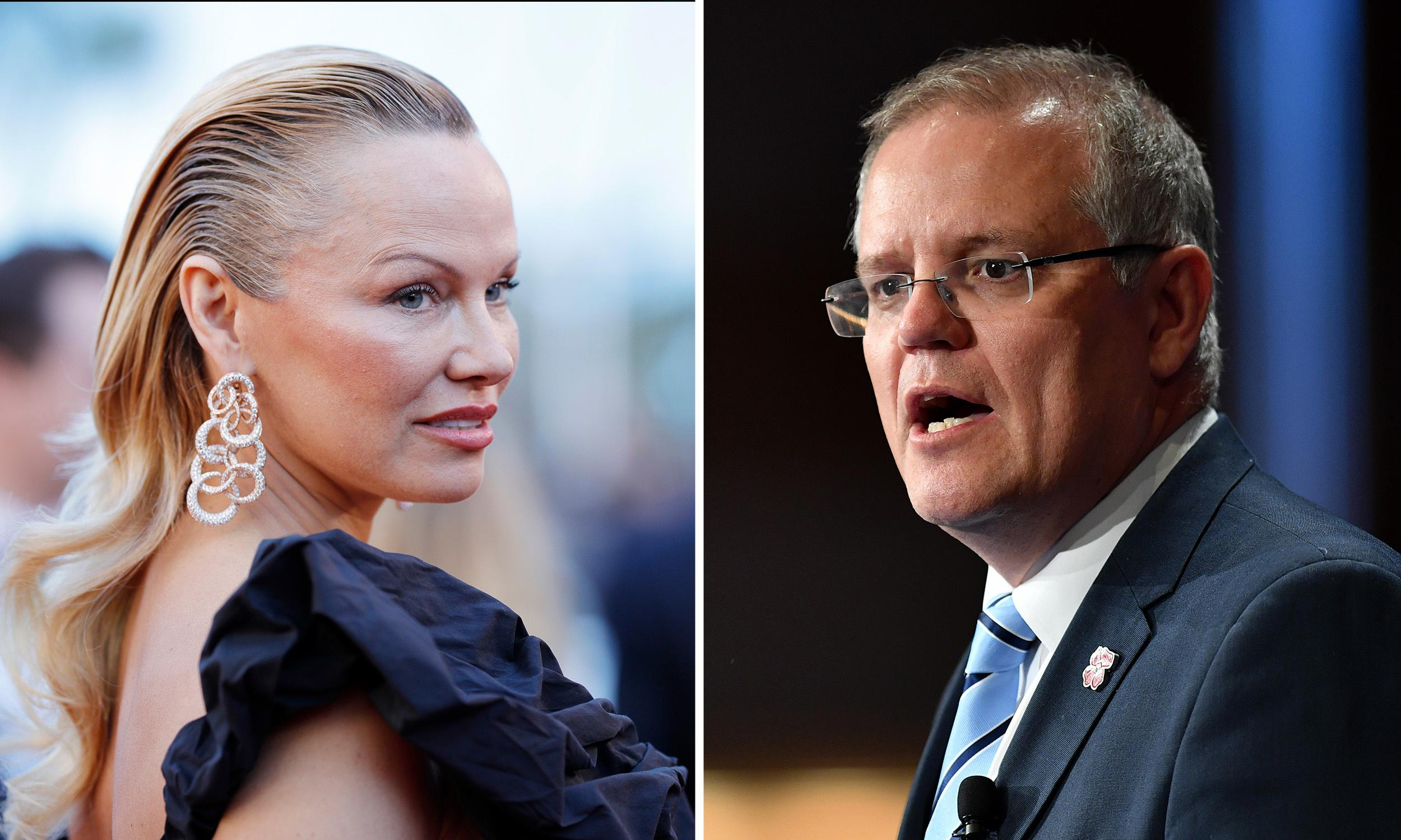 Pamela Anderson accuses 'smutty' Scott Morrison of abandoning Assange