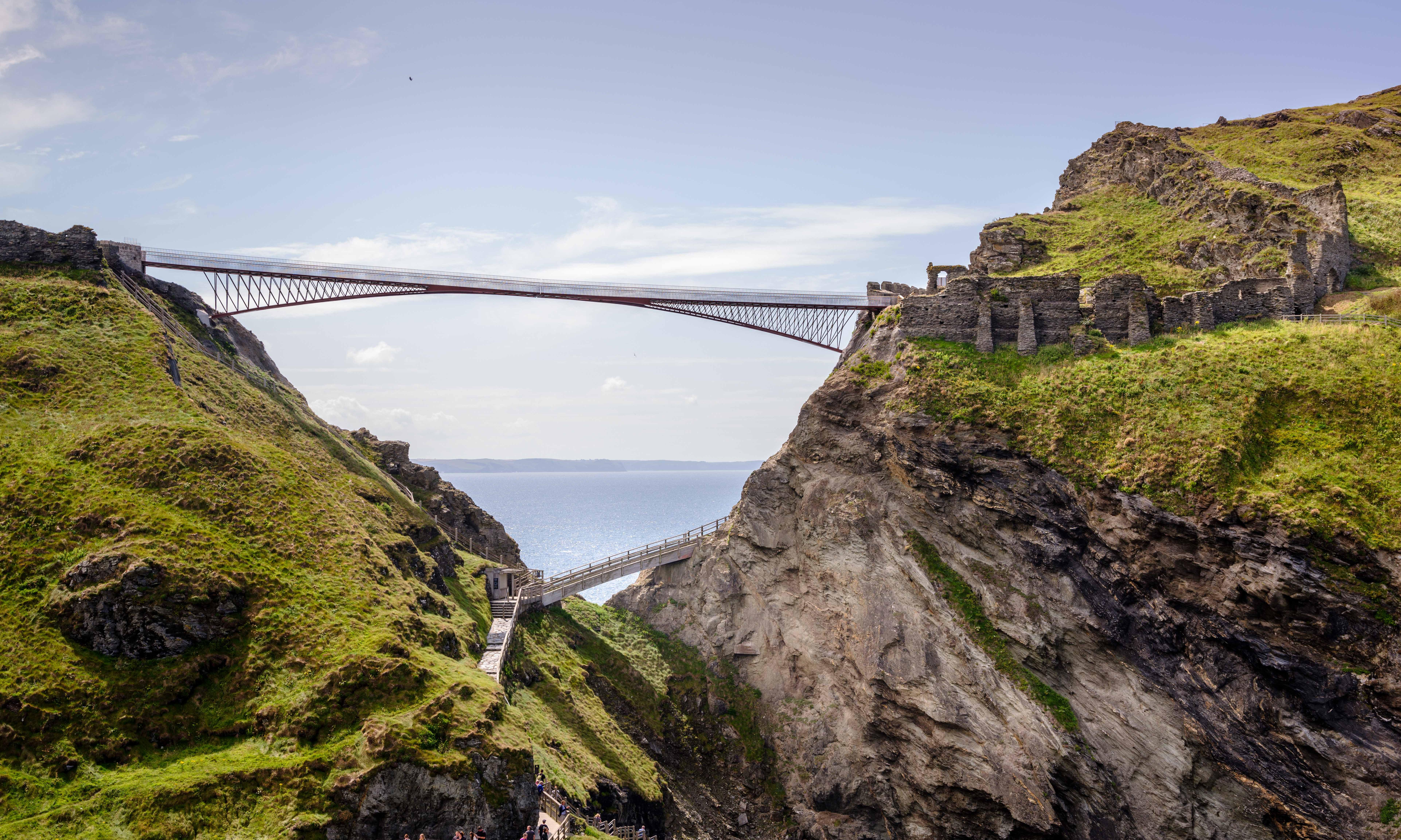Gossamer gateway to Avalon: Tintagel Castle bridge brings magic to history