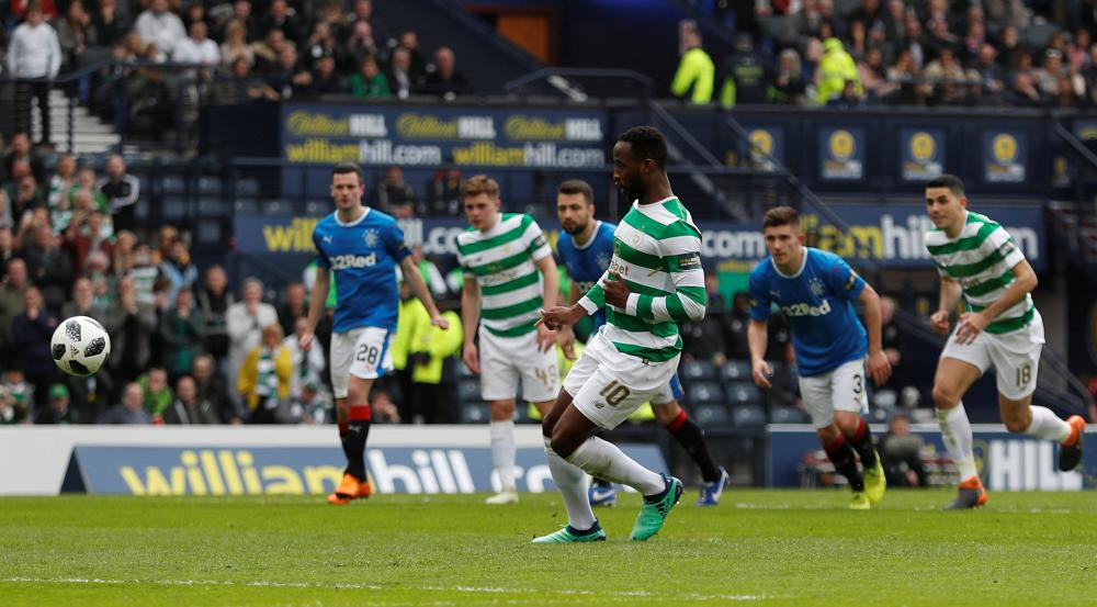 Dembele scores from the sport for Celtic's third.