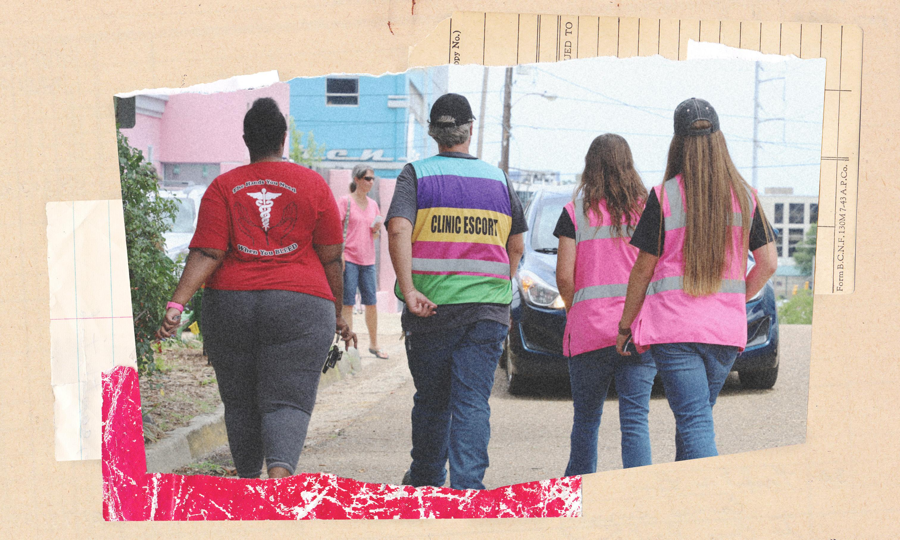 Abortion in the south: The 'escorts' who ward off protesters at Mississippi's lone clinic