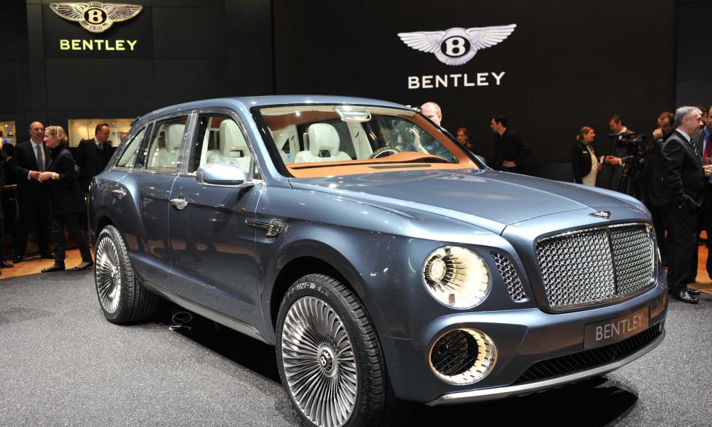 A Bentley car at a car show