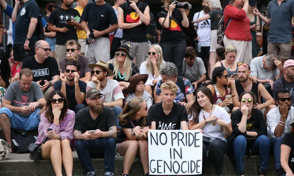 Australia Day 2017 RefernInvasion Day Rally at Redfern. Photograph by Mike Bowers. Guardian Australia