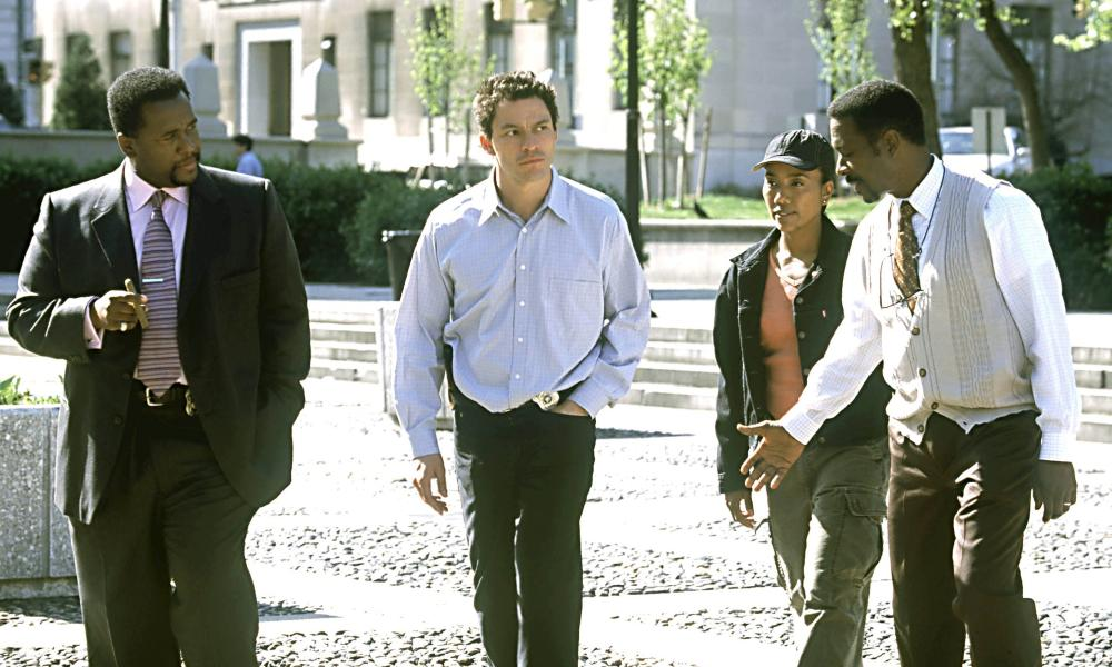 Wendell Pierce, Dominic West, Sonja Sohn and Clarke Peters.