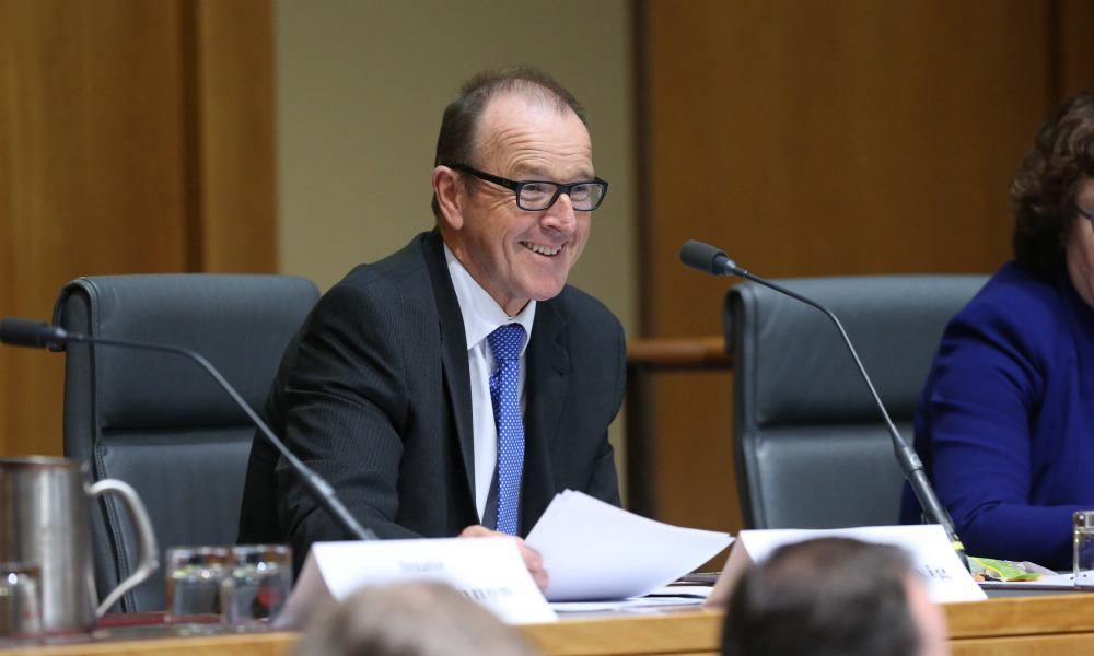 Senator Joseph Ludwig at the senate foreign affairs, defence and trade committee this afternoon, Wednesday 3rd June 2015.