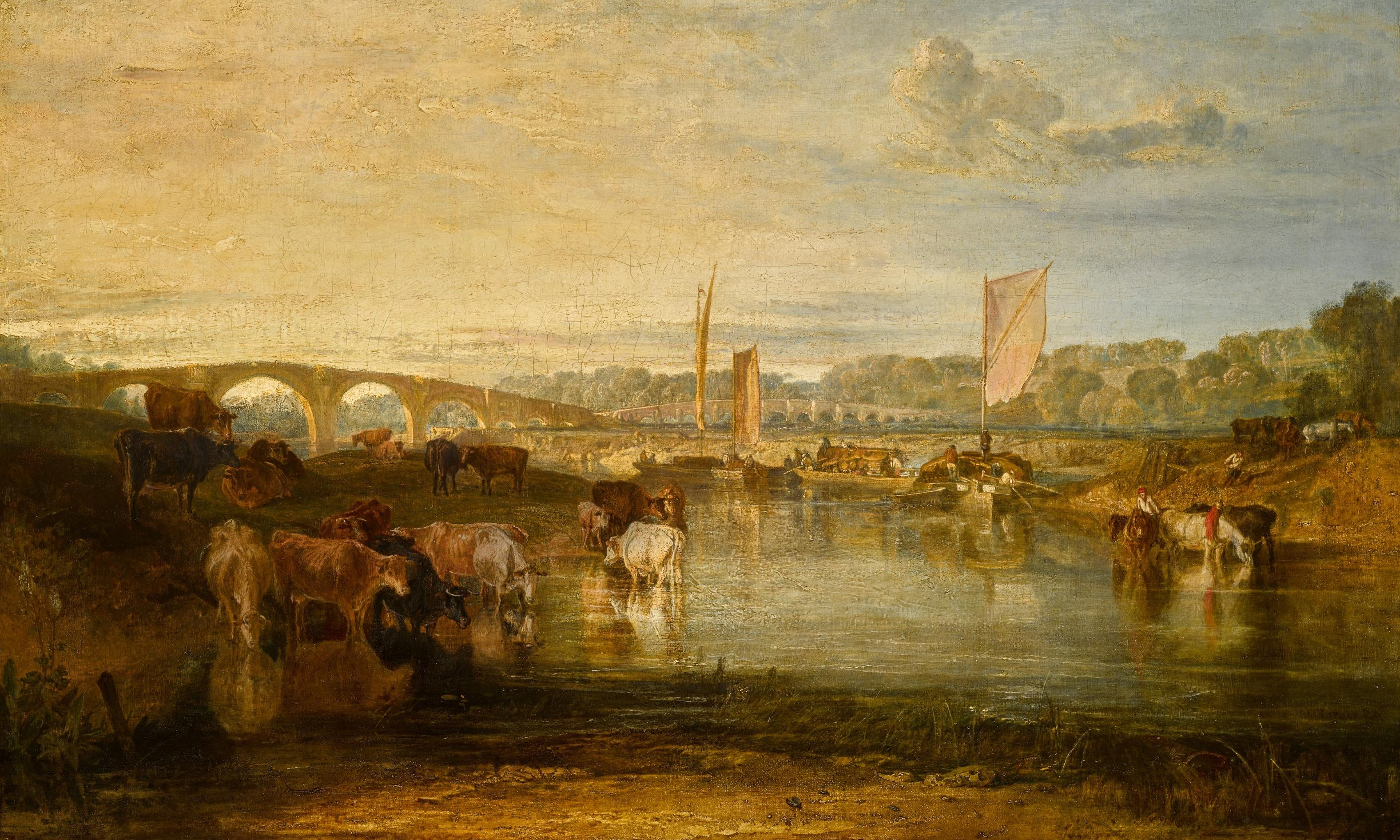 Early Turner landscape Walton Bridges saved for the nation