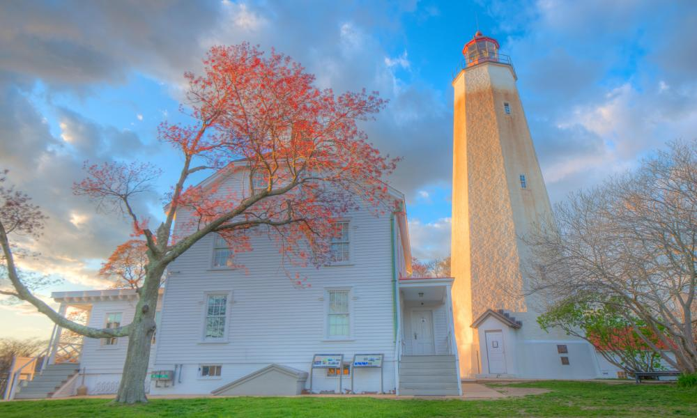 Sandy Hook lighthouse, Gateway national recreation area, New Jersey, US