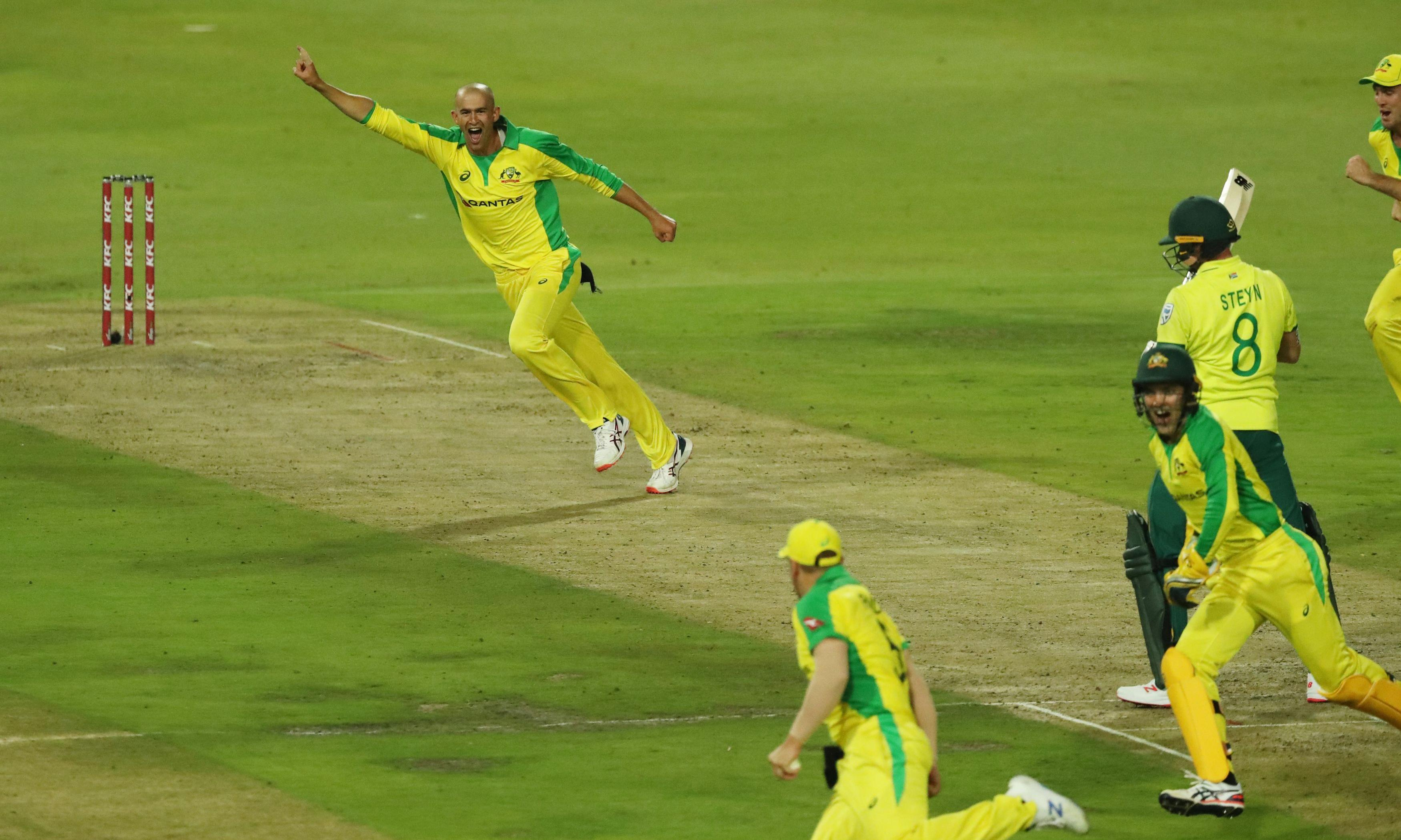 Ashton Agar's hat-trick inspires Australia to South Africa T20 romp