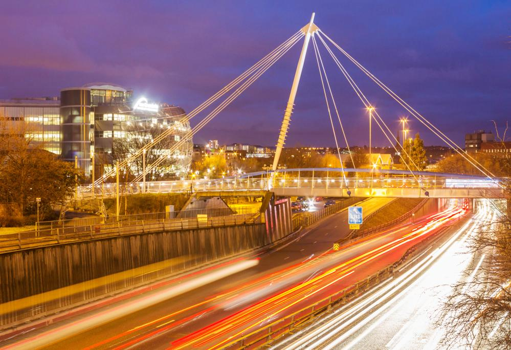 The Northumbria University footbridge in Newcastle that Agrawal helped design.