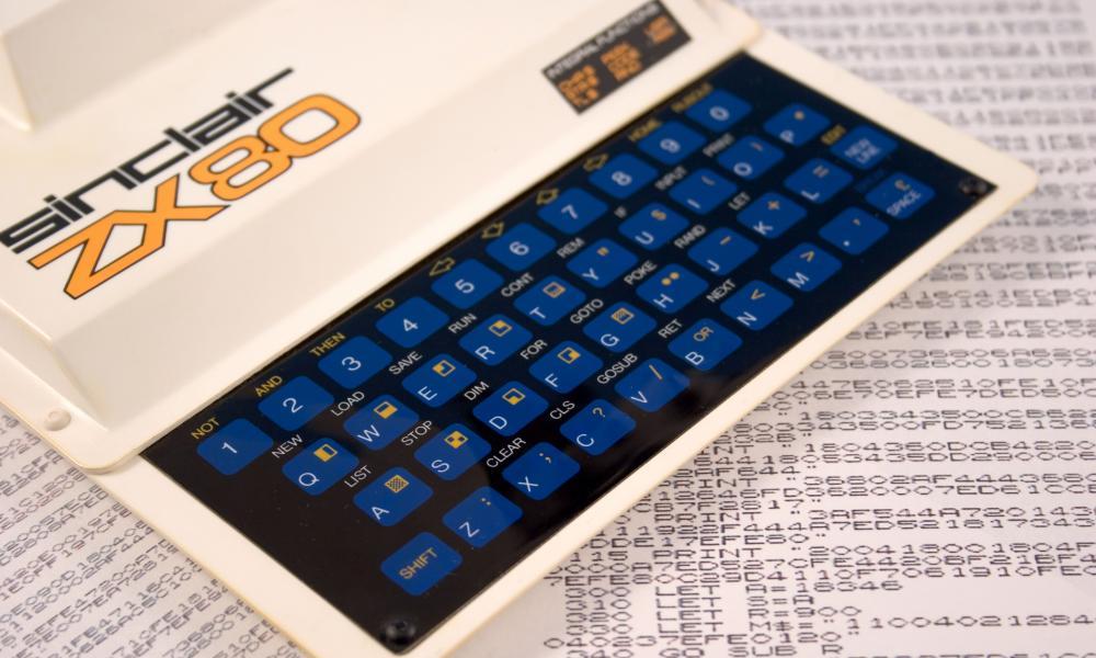 ZX80 home computer.